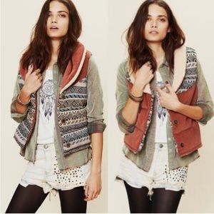 Free People Corduroy Connection Reversible Vest M